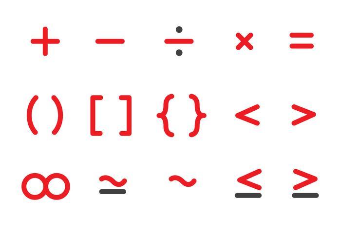 Free Mathe Icons Vektor