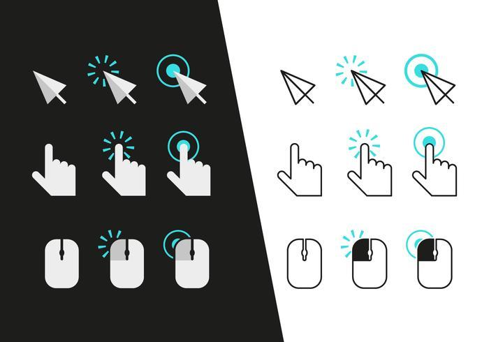 Mausklick Icons Vektor