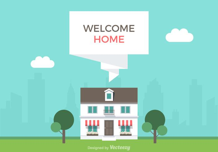 Kostenlose Willkommen Home Vector Illustration