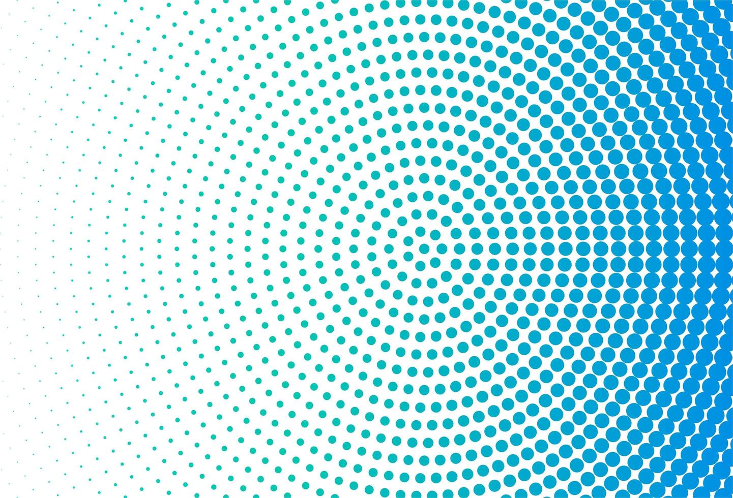moderner blauer Punktkreishintergrund vektor