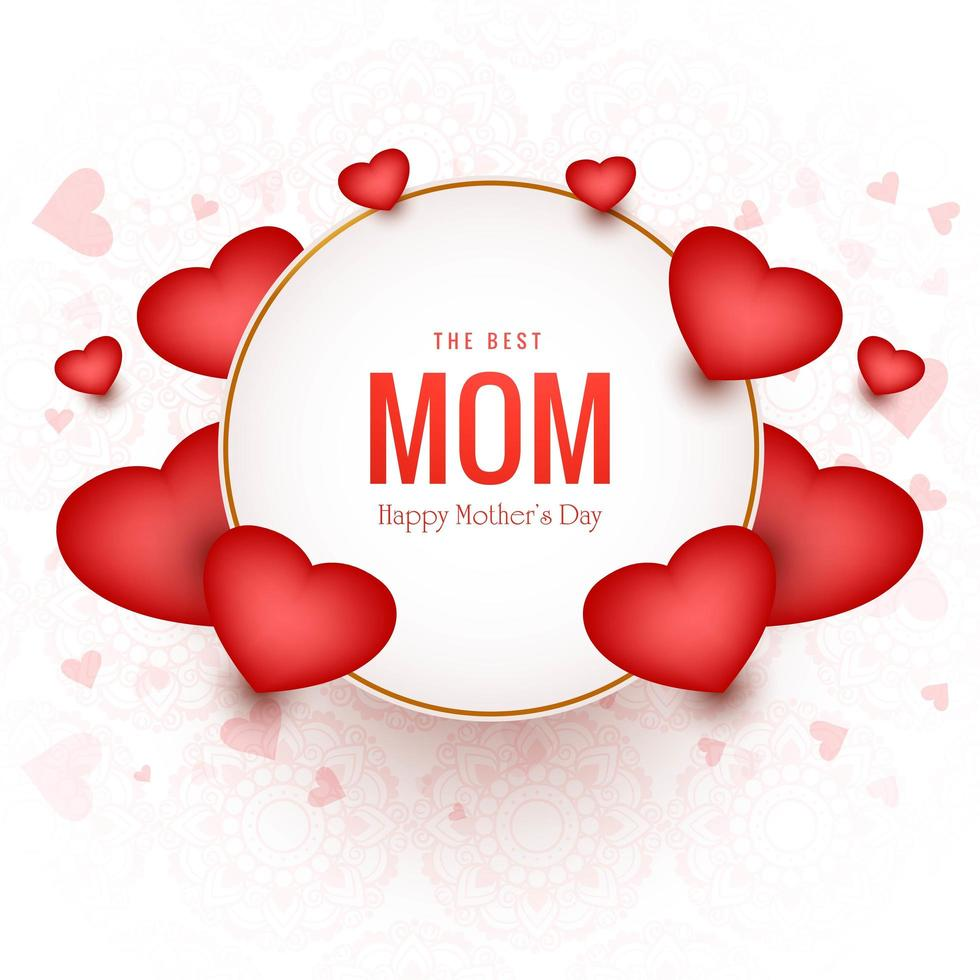 die beste Mutter glücklich Muttertag Hintergrund vektor
