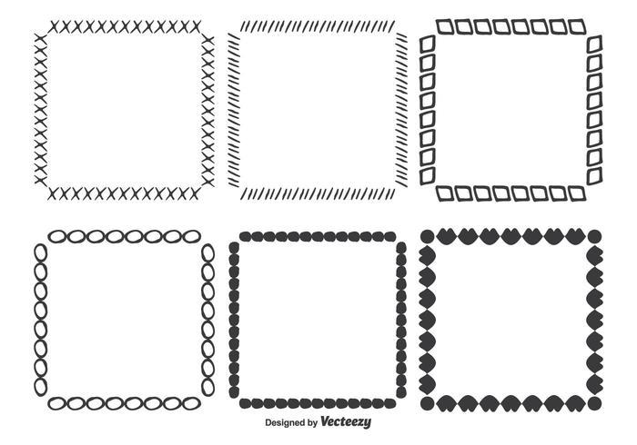 Handgezeichneten Vektorrahmen Set vektor