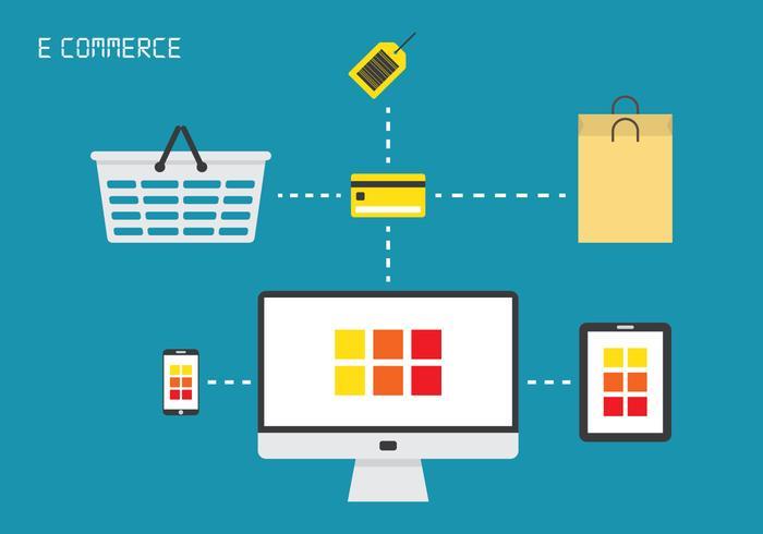 E-handels ikonvektorer vektor