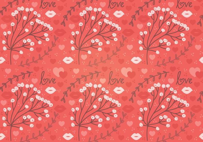 Rote Blume Vektor Nahtlose Muster