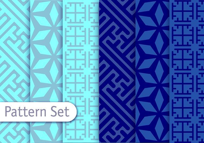Blå arabesca vektormönster vektor