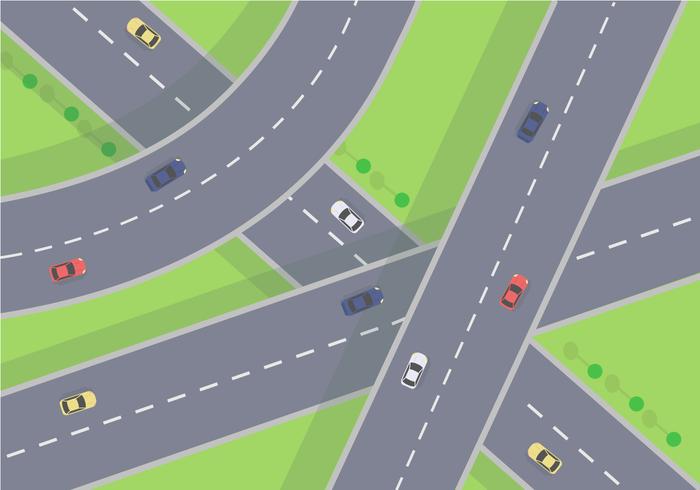 Freier Autobahn-Vektor vektor