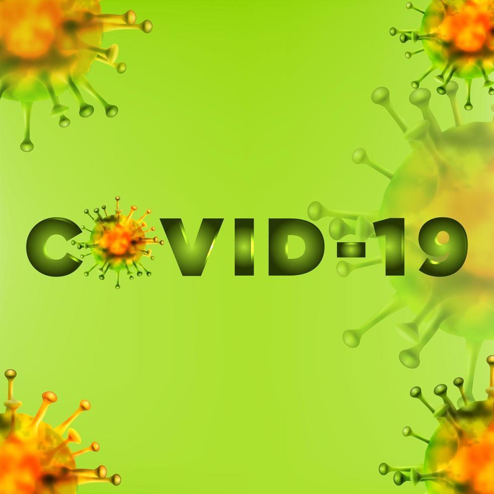 Hintergrund der grünen Covid-19-Zellen vektor