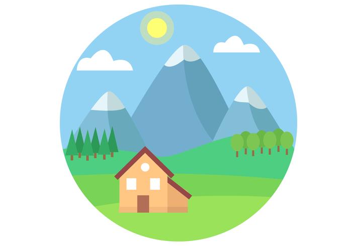 Gratis Mountain Landscape Vector