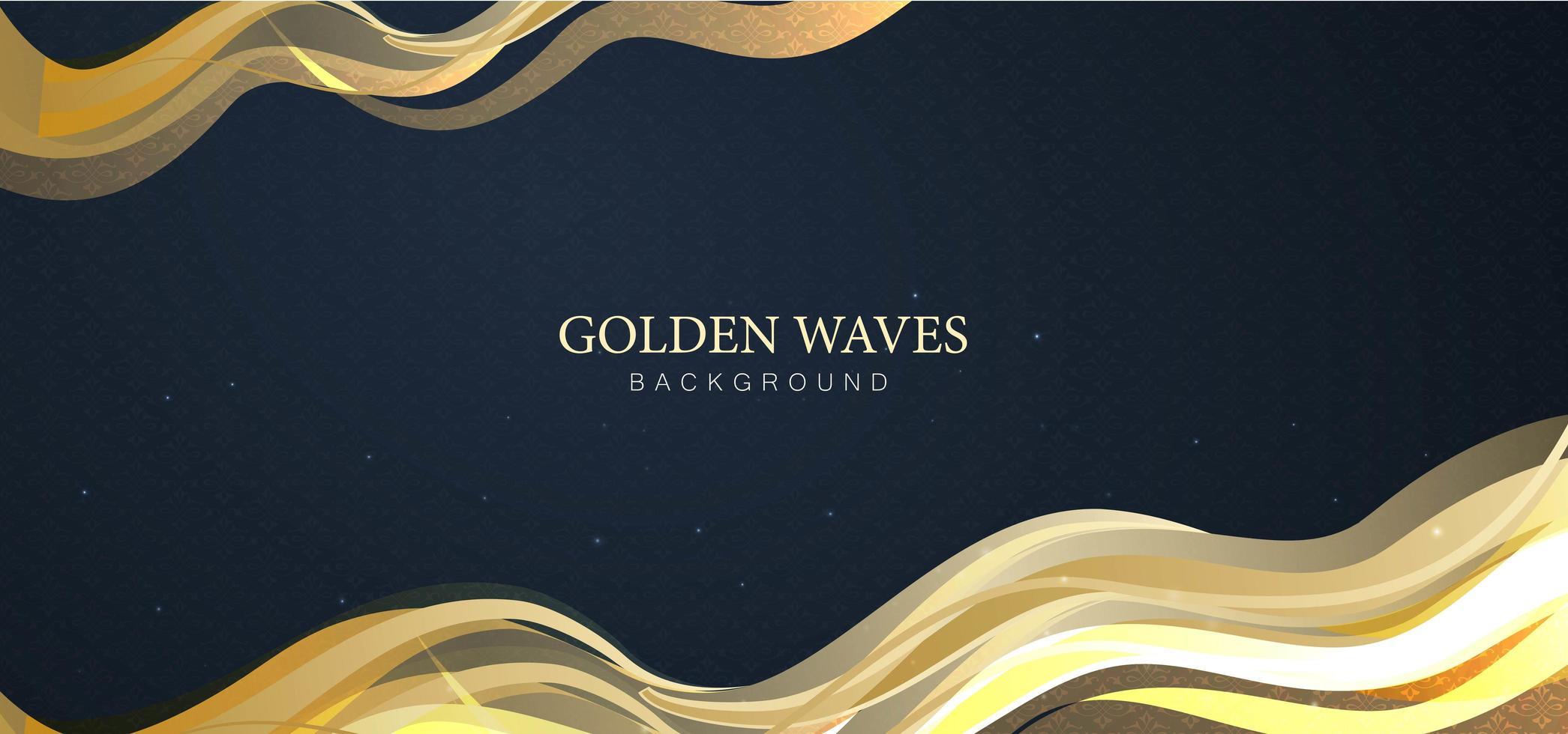 abstrakter Hintergrund der goldenen Wellen vektor