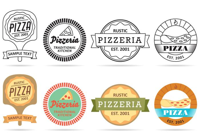 Pizza Logo Vektorer