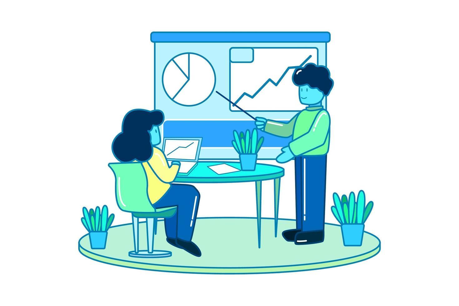 Geschäftsplanung und Analystenkonzept vektor