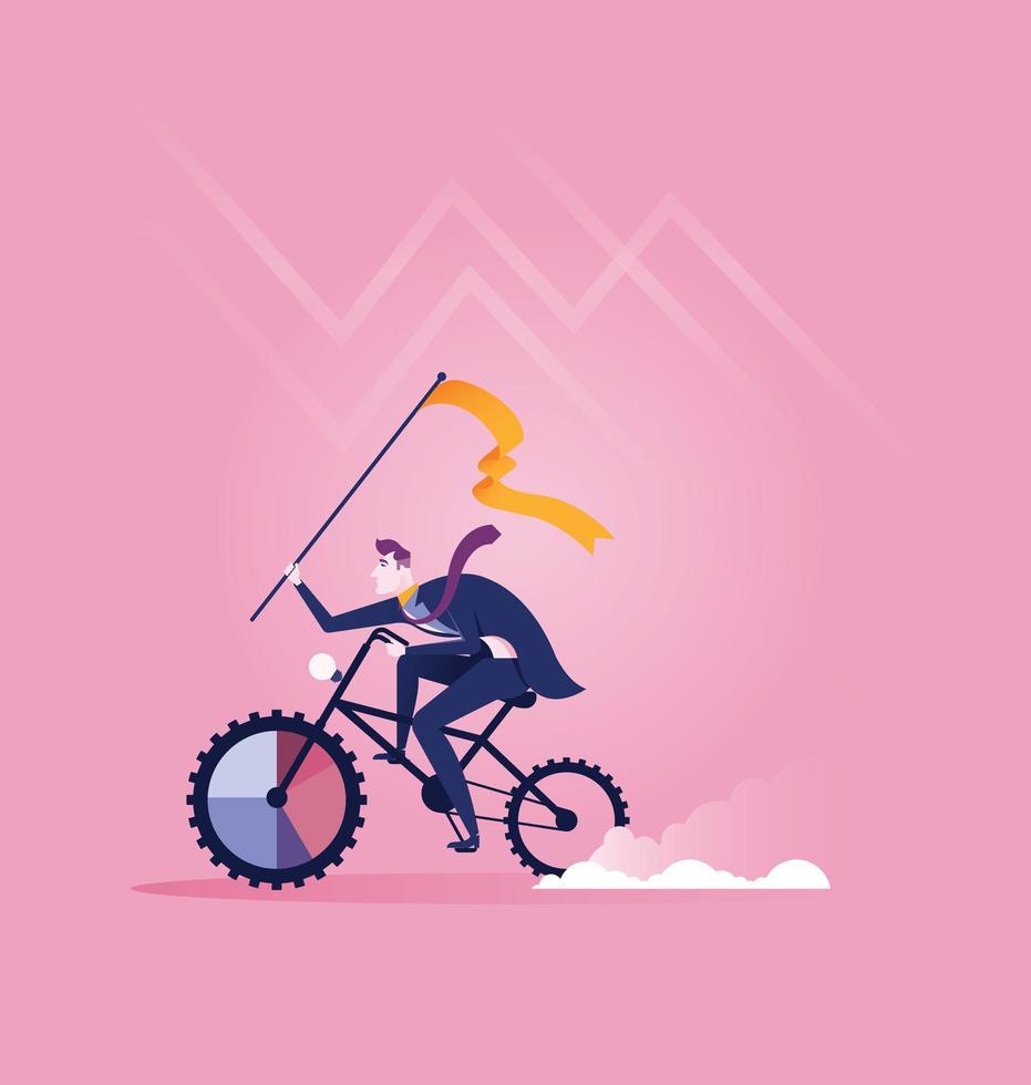 Wettbewerb Biking Konzeptgeschäft vektor