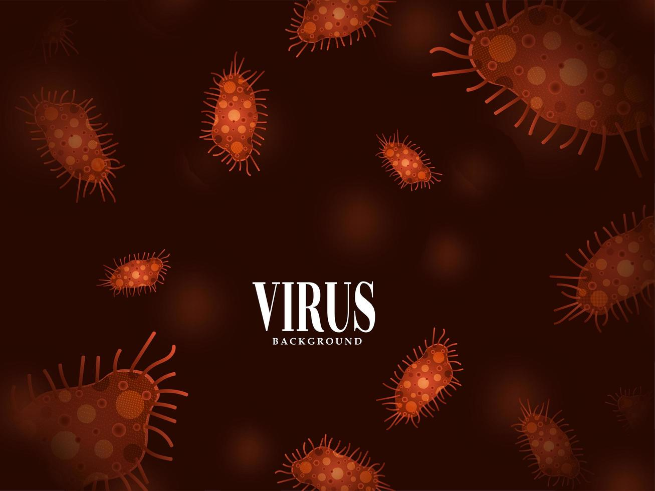 moderner Virusinfektionsgrippehintergrund vektor