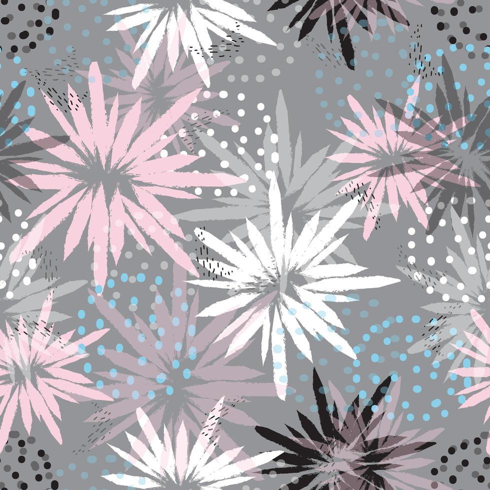 Pastellblumen abstraktes Muster vektor