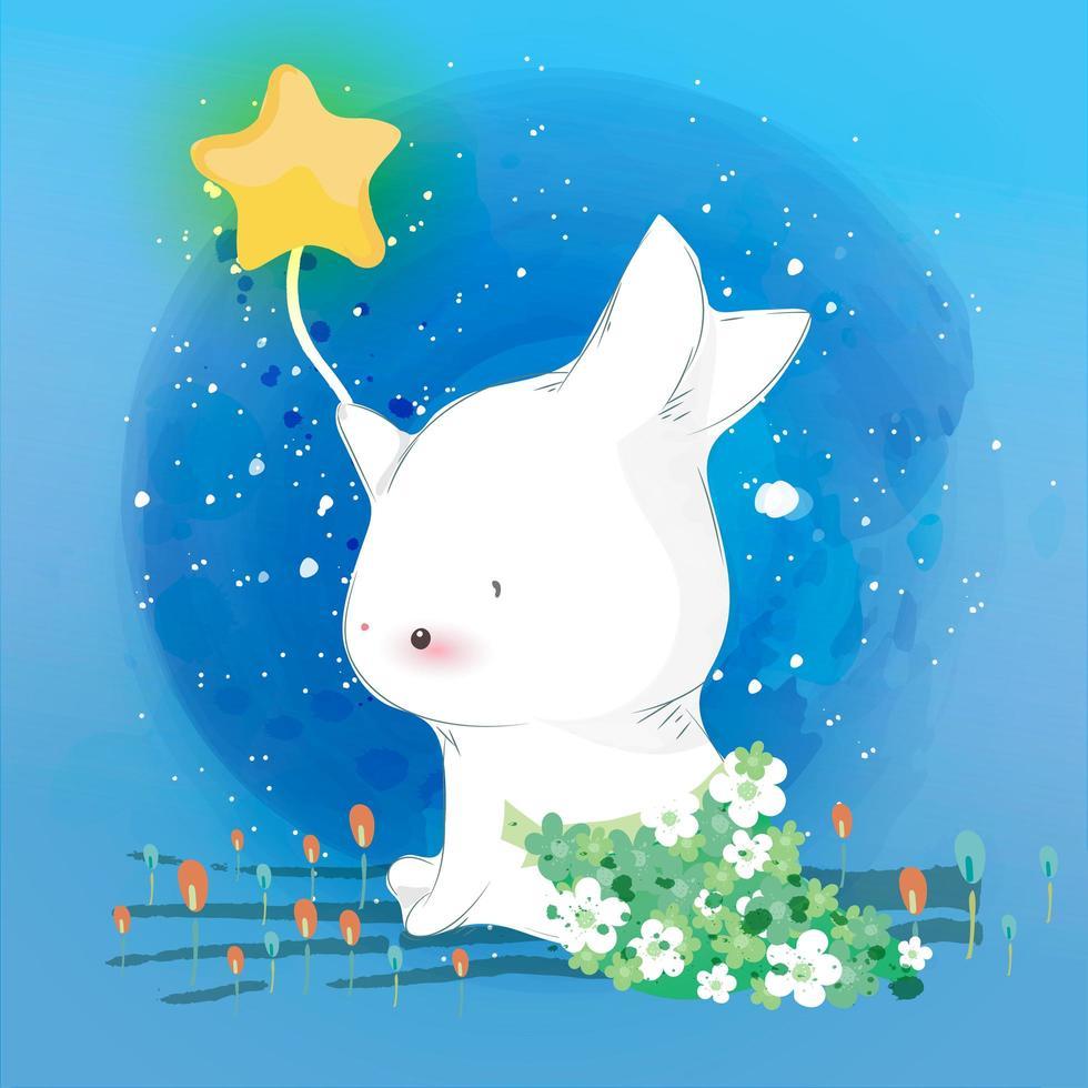 kanin i himlen vektor