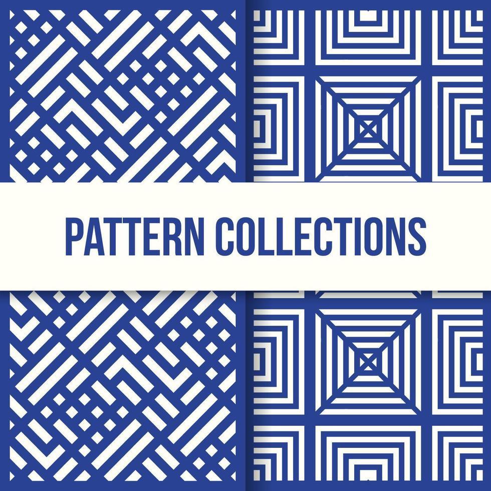 nahtlose quadratische Box Illusionsmuster Sammlung vektor