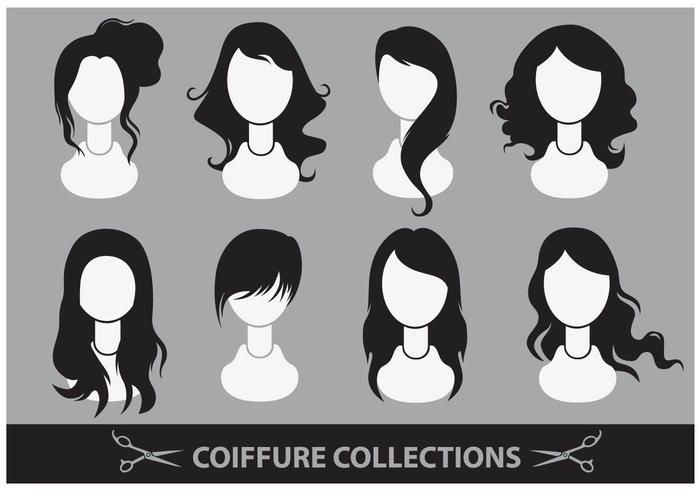 Coiffure Collection Vektoren