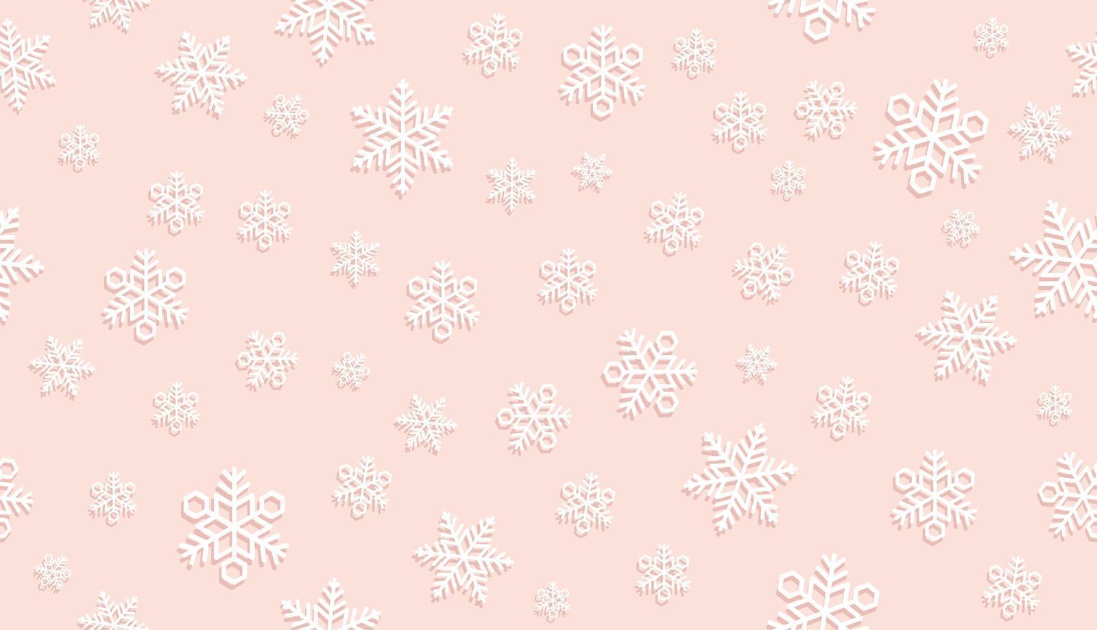 nahtloser rosa Schneehintergrund. vektor