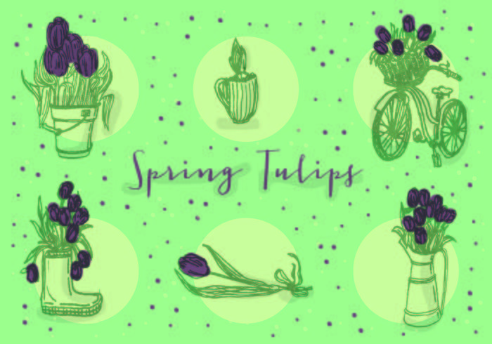 Kostenlose Icons von Vektor Tulpen