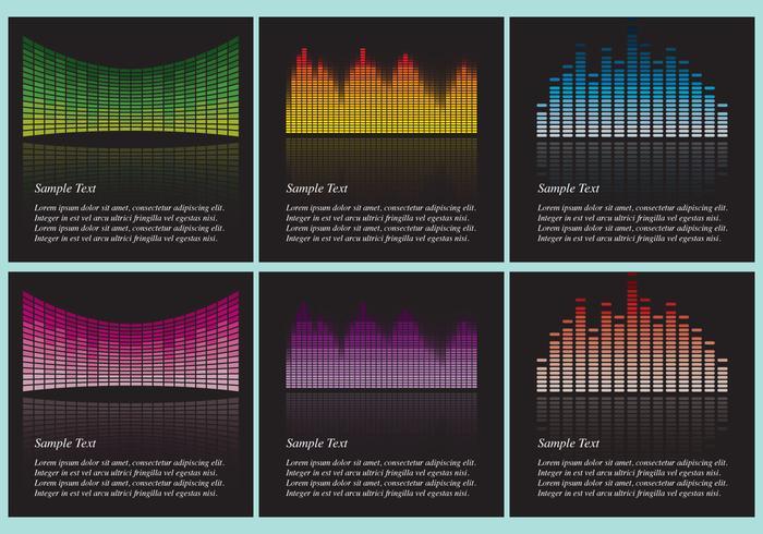 Sound Bars Bakgrundsvektorer vektor