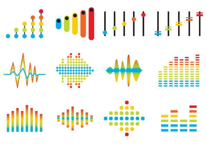 Sound Bars Ikonvektorer vektor