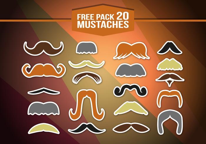 Movember mustaschpack vektor
