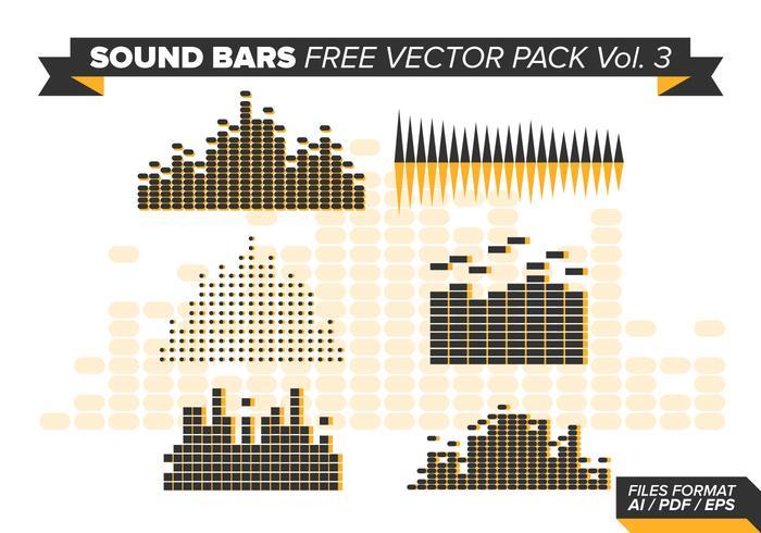 Sound Bars Gratis Vector Pack Vol. 3