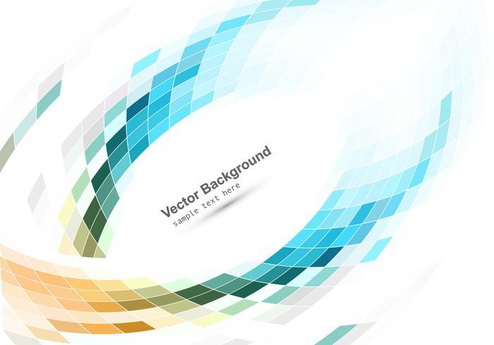 Bunte Mosaik Muster Auf Weißem Hintergrund vektor