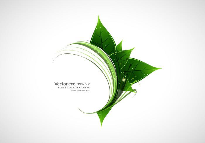 Natürliche grüne Blätter mit geschwungenen Wellen vektor