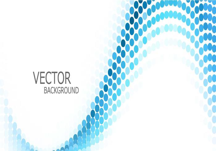 Våg med abstrakt blå cirkel vektor