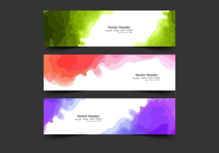 Rubrik med akvarellfärg vektor