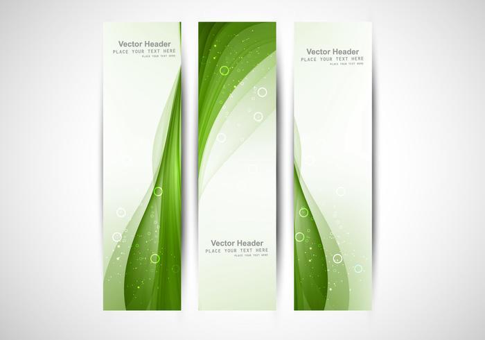 Ljusgrön våghuvud vektor