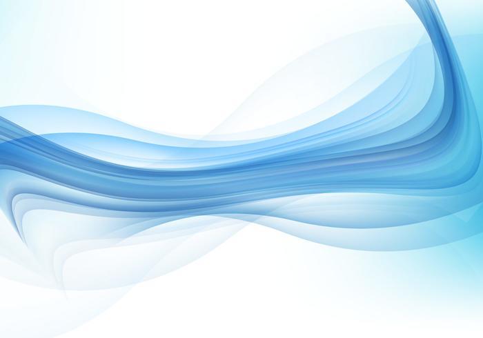 Abstrakt Blue Wave Background vektor