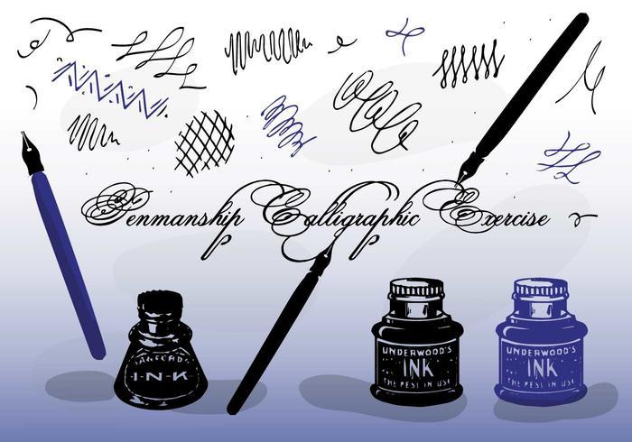 Freie Vektor Kalligraphie
