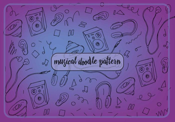 Freie musik musikalische muster vektor