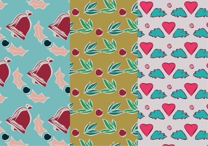Set von Weihnachtsmuster Illustration vektor