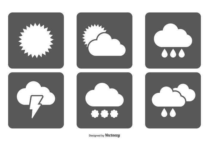 Einfache Wetter Icon Set vektor