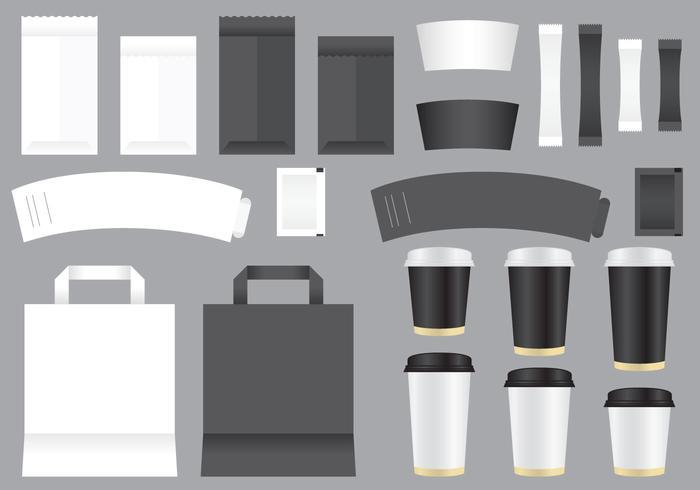 Vector Coffee Shop Vorlagen