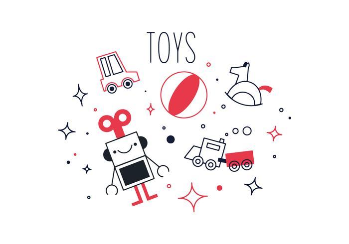 Kostenlose Spielzeug Vektor