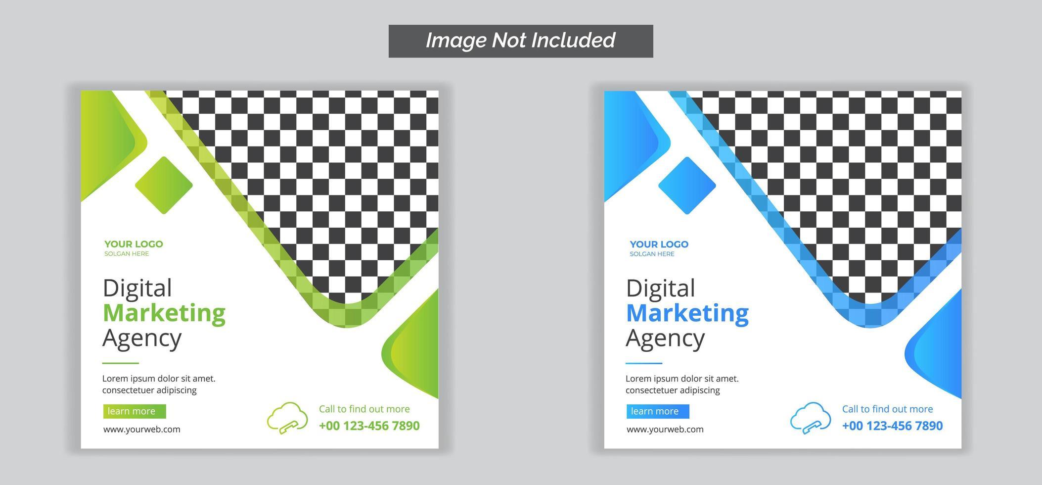 digital marknadsföringsbyrå sociala medier banner mall vektor