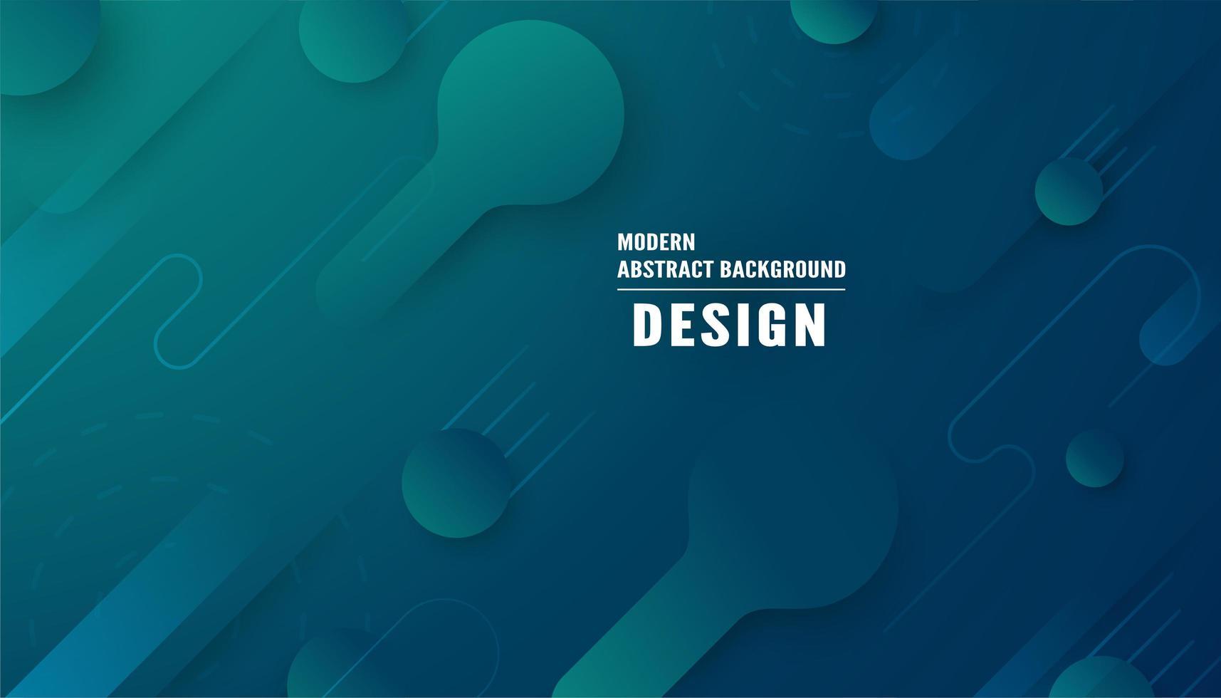 modern abstrakt blågrön form bakgrund vektor