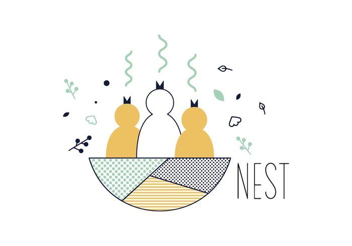 Freien Nest-Vektor vektor
