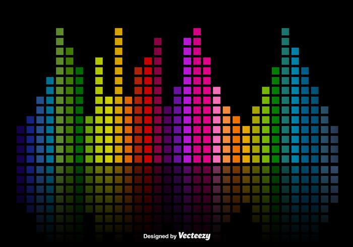Färgglada musikljudstänger Equalizer Vector Background
