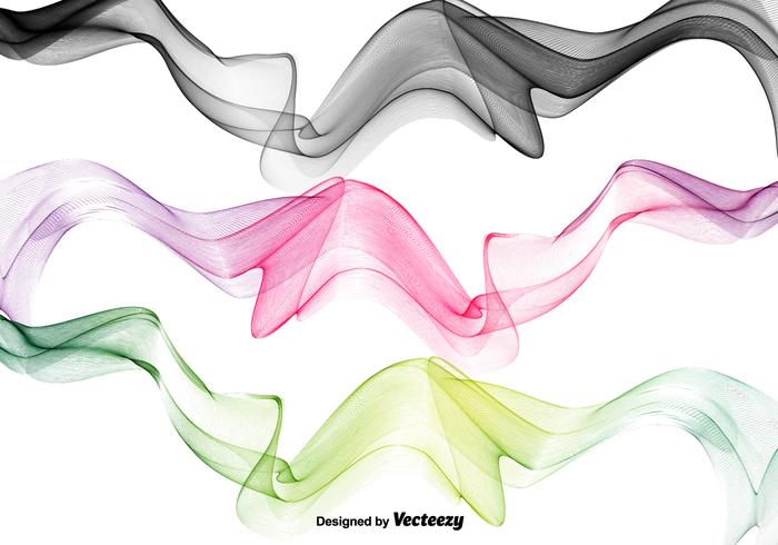 Abstrakt Swish Wave Vectors
