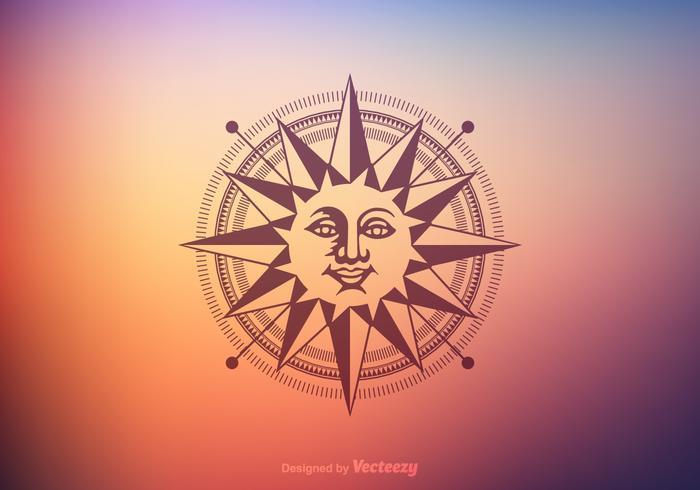 Gratis Sun Dial Vector Design