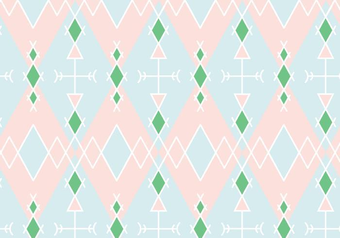 Pastell geometrisk mönster bakgrund vektor