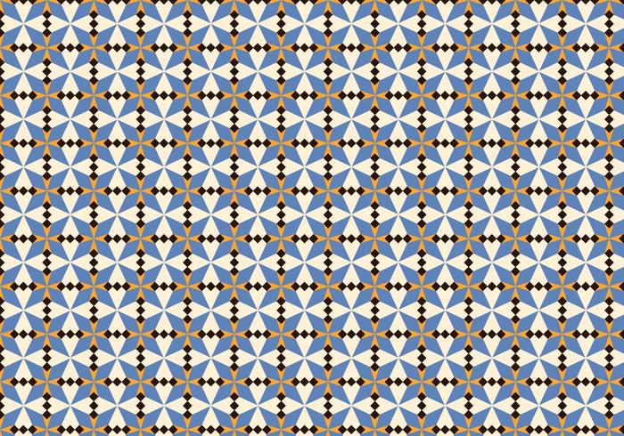 Lila Morrocan Mosaik Muster vektor