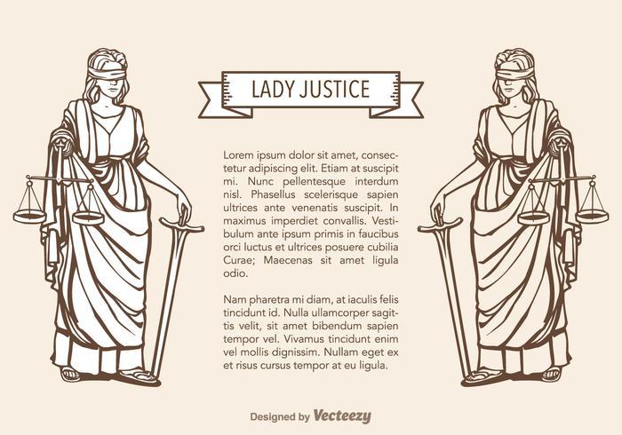 Free Lady Gerechtigkeit Vektor