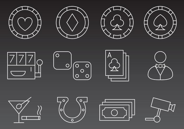 Casino Line Icon Vektoren