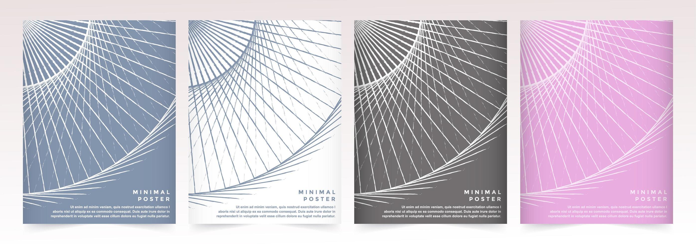färgglada geometriska abstrakta cirkel mönster affischuppsättning vektor